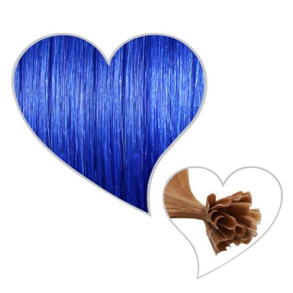 25 Strähnen 45cm #blau