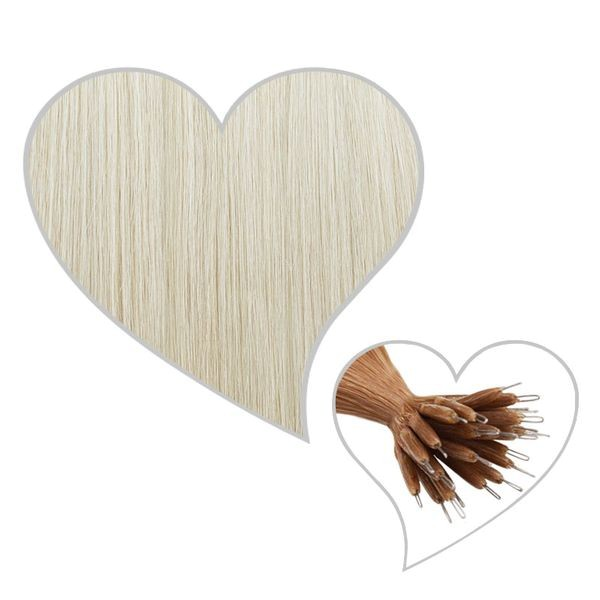 25 Nanoring-Extensions 45cm kühles-blond#90
