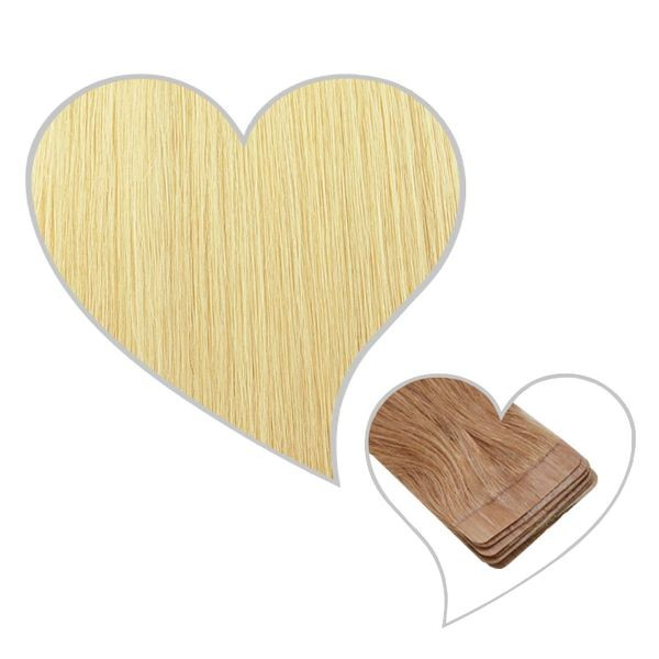 10 Tape-Extensions 60cm hell-goldblond#24