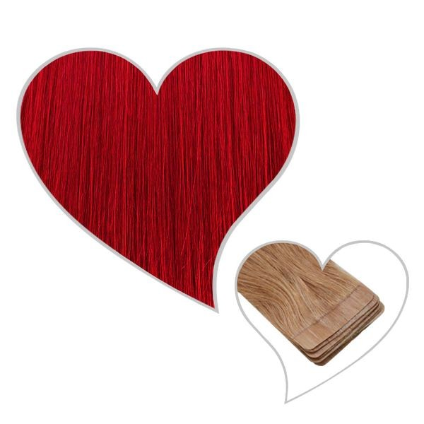 Angebot - 9 Tape-Extensions 35cm #rot