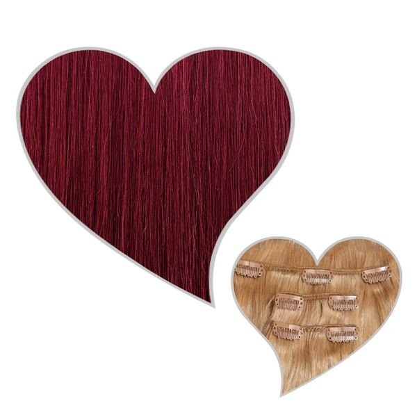 Clip-Extensions 110g/50cm weinrot#35
